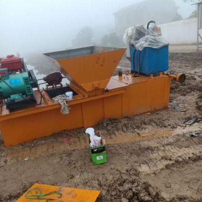 2019水利建设专用渠道成型机 农用水利排水沟摊铺滑模机 渠道衬砌机梯形定做