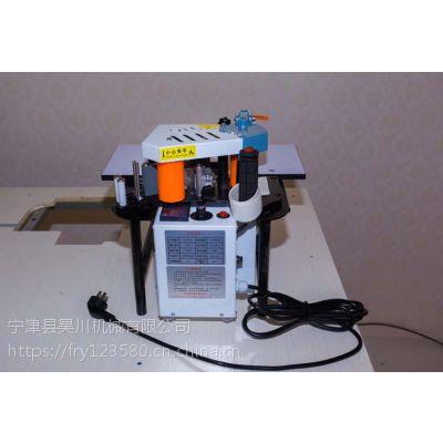 手提双面涂胶封边机FC1001S主要用于板式家具封边