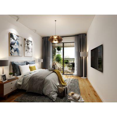 渝北公园大道洋房装修案例,120平米户型北欧风格设计方案