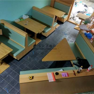 厦门西餐厅家具定做,时尚餐饮店转角卡座沙发效果图