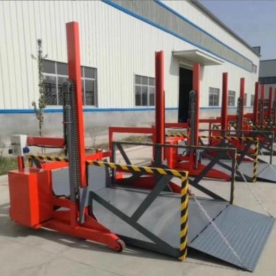 航天移动式卸货平台 轨道式升降货梯 集装箱电动液压升降机 厂家批发