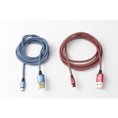 手机数据线定制usb快充电线适用苹果安卓type-c尼龙编织线