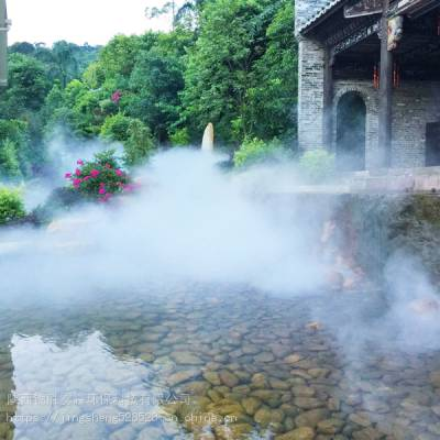 陕西各地景观雾森系统 喷雾造景效果图 设计报价安装一体