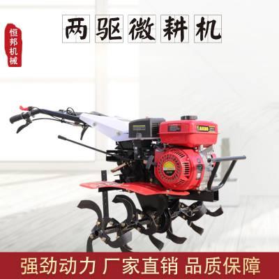 厂家直销家用小型微耕机 两驱自走式耕地机