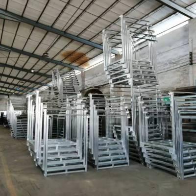 东莞锦川供应折叠式堆垛架 布匹架 移动式货架 巧固价等周转设备