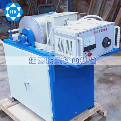 临沧实验鼓式磁选机 湿法电磁磁选机 400*300小型选矿弱磁磁选机