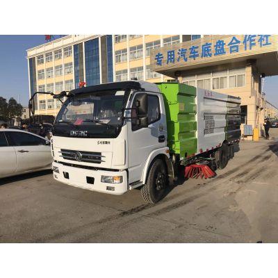 厂家东风多利卡洗扫车价格-8方洗扫车多少钱