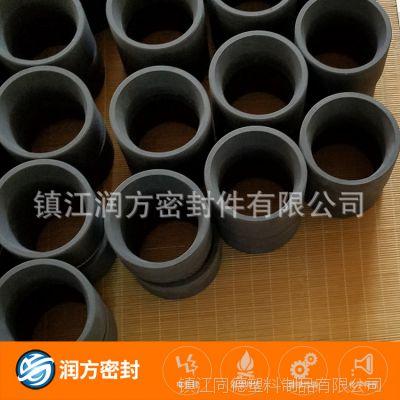 耐磨耐高温达到:350℃ 增强改性填充聚四氟乙烯PTFE碳素纤维制品
