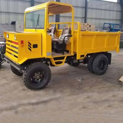 柴油25马力工程车报价 电启动农用四轮拉料车 7速变速箱四轮工程车