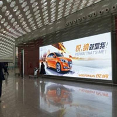 深圳宝安机场三层候车区广告,深圳宝安机场灯箱广告