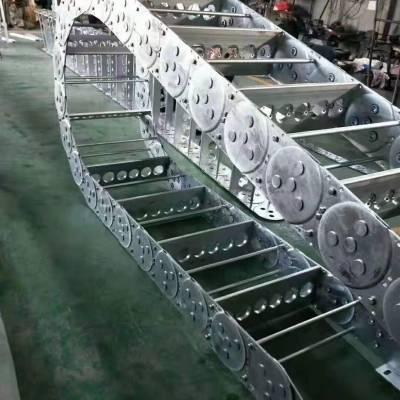 专业定制 拖链槽 坦克链拖链 钢制拖链型号