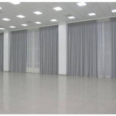 创明会议厅电动布艺窗帘订做办公单位工程电动遮阳帘手动卷帘批发厂家