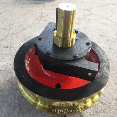 来图定制 行车用φ600行车轮 双边铸钢主动轮