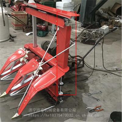 手推式高矮作物收割机 新款大豆秸秆收割机 鸿睿柴油自走式收割机