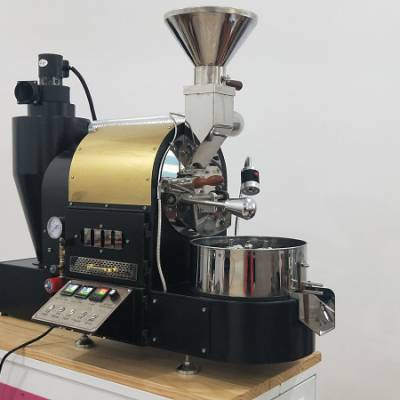 竞赛级咖啡烘焙机2KG炒豆机小型商用咖啡豆烘焙机器310双层滚筒