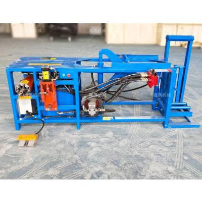 废旧冰箱起动机铜线拆解机 永安小型液压电机拆解设备个小动力大