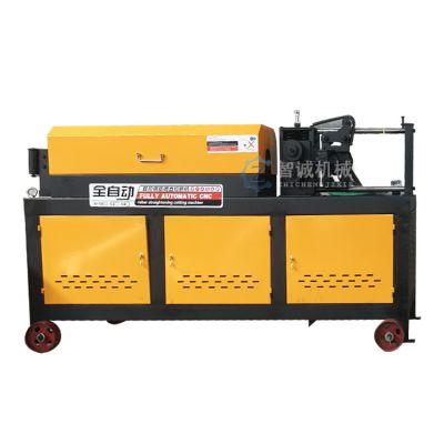 智诚机械 5-12小型钢筋调直机 数控钢筋调直切断机操作图片 钢筋调直切断机价格