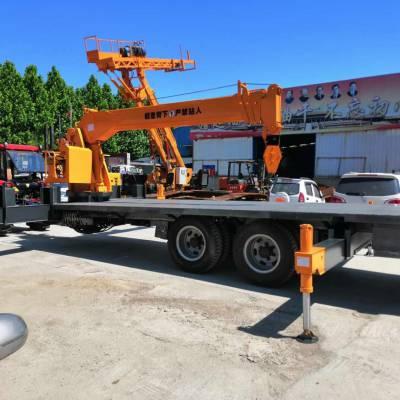 新款现货10吨随车吊 拖拉机平板吊 拖拉机随车吊厂家 启翔