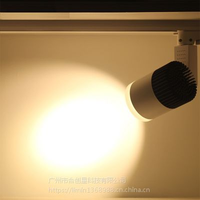 合创星厂家直销 LED轨道灯 7w12w20w30w50w服装店射灯COB滑道射灯明装