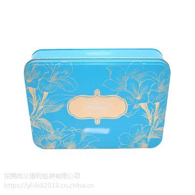 义信利f220长方形曲奇饼干蛋卷铁盒 定制精美月饼食品包装盒 云南鲜花饼盒子生产厂家