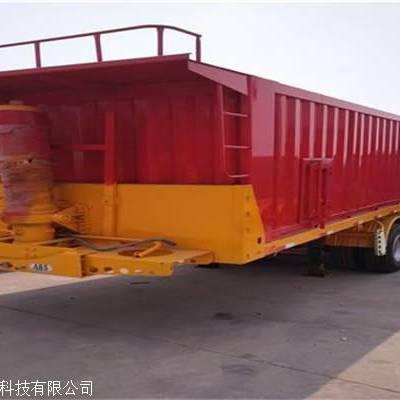 13米挖机大板11米自卸半挂车大件运输低平板拖车定做8.5米后翻半