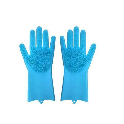 硅胶魔术手套女冬家务厨房洗碗刷碗神器 耐用塑胶橡胶防水胶皮手