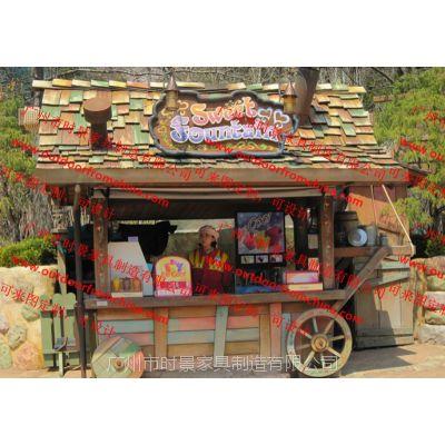 景区仿古售货亭,主题公园美食售货车,纪念品贩卖车,摊位花车