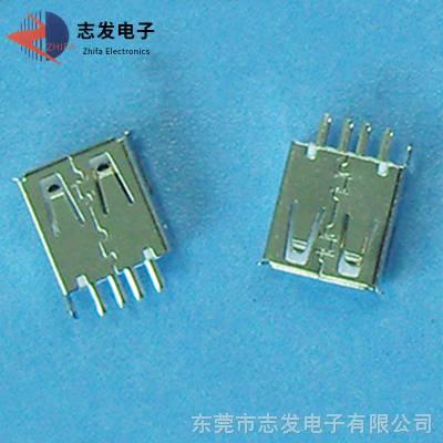 生产销售micro usb插座 usb插座母座 立式插板贴片USB母座