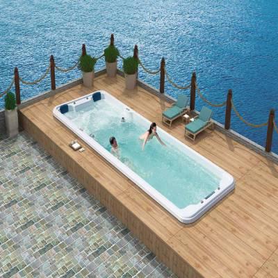 江苏南京奕华卫浴7.8米游泳浴缸SPA冲浪endless pool别墅豪华室外恒温游泳池休闲浴缸