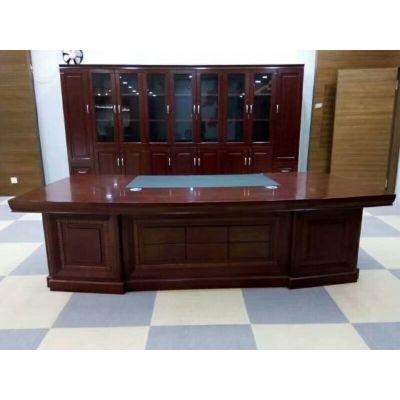 老板桌简约现代 办公桌总裁桌经理室大班台 主管桌椅组合办公家具
