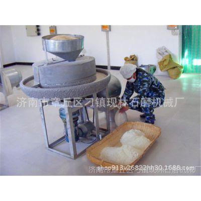 现林石磨 粮食加工面粉石磨机    自动商用五谷杂粮磨面机