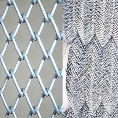 镀锌丝勾花网 PE包塑勾花网 球场外围用护栏