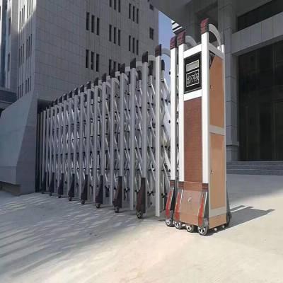 寿县伸缩门公司 潍坊铝合金自动伸缩门 优质不锈钢伸缩门 小区电动门促销