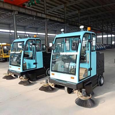 苏州市公园电动扫路车 电动扫路车小区 鸿哲 电动驾驶式扫路车