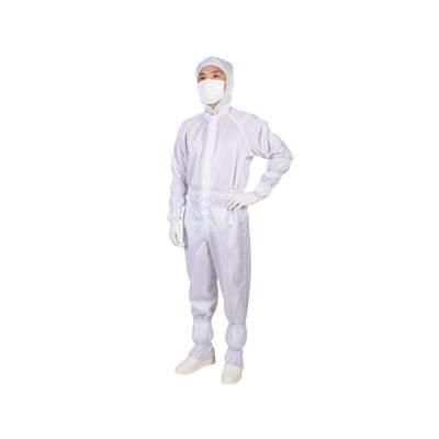 防静电连体服 兴业卓辉连帽 连体服 聚酯连续纤维条纹布料 无尘室实验室工作服长款