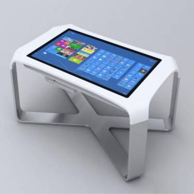 43寸55寸电容交互式触摸茶几商务洽谈智能触控桌落地触摸一体机