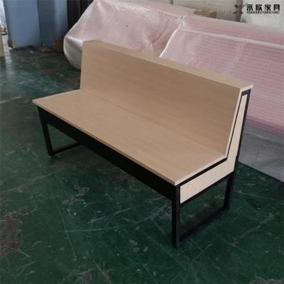 三门峡钢木结构面食店卡座沙发