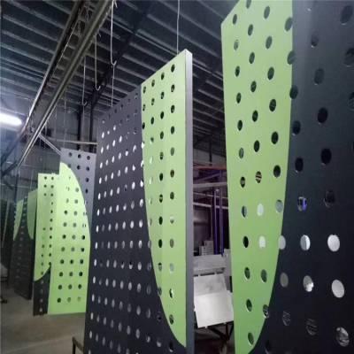 云南珠宝商店不规则圆孔铝单板吊顶-大小孔定制