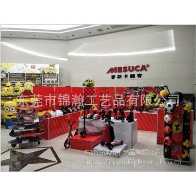 最新研发快速成型组合塑料展示柜展示架和促销台等卖场场景搭建东莞工厂制作