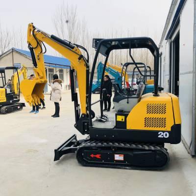 厂家直销全新20型号小型挖掘机 市政工程旱厕改造道路破碎多功能小型挖掘机