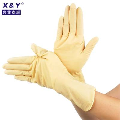 百级乳胶手套一次性耐磨薄款厨房洗碗塑料手套劳保食品餐饮手套