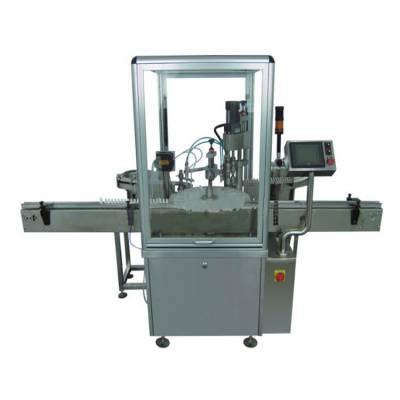 ZHGNX-III全自动机械手式双头电子烟油灌装旋盖机,小量定量液体灌装生产线,灌装机制造商