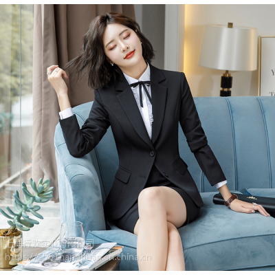 上海高档服装女式职业套装办公西服工作服供应批发
