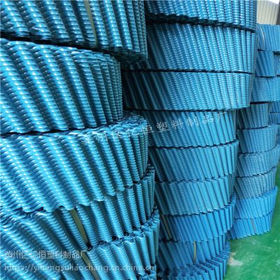 玻璃钢冷却塔填料圆形逆流式冷却水塔蜂窝型散热片淋水片 厂家 亿恒塑料
