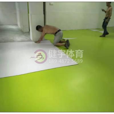 幼儿园地胶铺设施工_案例工程_幼儿园PVC地胶板施工_深圳市健宇体育15年以上一线项目经验