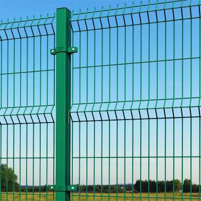 绿色铁框架护栏网双边丝护栏网绿色围栏网边框护栏网果园防护网
