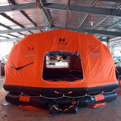 自扶正救生筏KHZ-15 15人 用救生筏 国内船只必备救生筏CCS