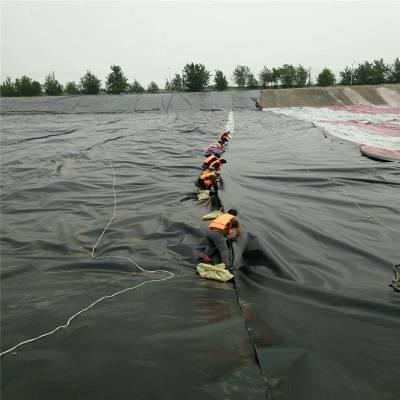 双光面土工膜在内蒙古人工湖的铺设方法