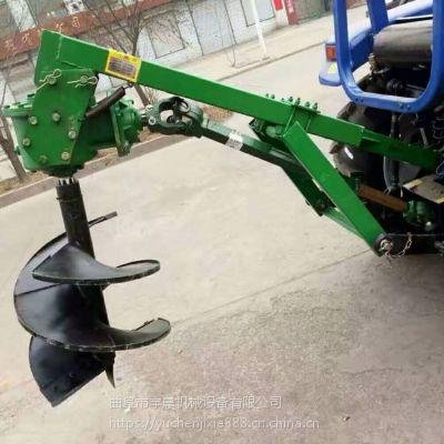 大直径拖拉机打孔机 车载式植树挖坑机价格 立柱打洞机