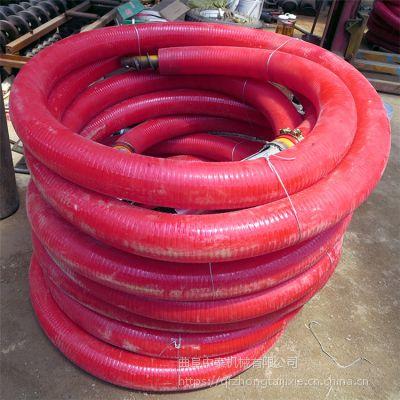 无粉尘的圆胶管吸粮机 耐磨损定制PVC抽料机 中泰机械
